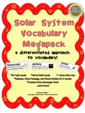 Solar System Vocabulary Megapack! Quiz, Study Guide, Task Cards, and More!
