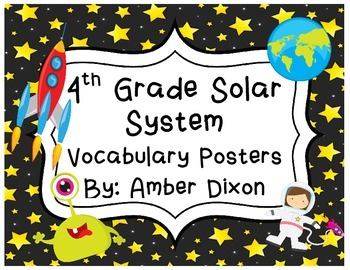 Solar System Vocabulary Posters
