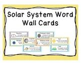 Solar System Word Wall