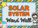 Solar System Vocabulary Word Wall