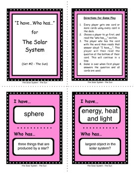 Solar System Unit - Vocabulary and Review with Class Activity Games