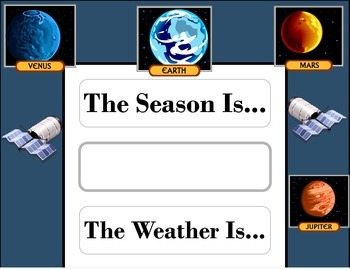 Solar System Weather Chart! Space Weather! Solar System Theme! Space Bulletin!