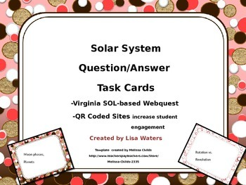 Solar System Webquest Task Cards