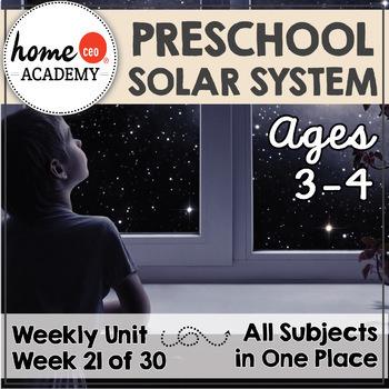 Solar System - Week 21 Age 4 Preschool Homeschool Curriculum by Home CEO