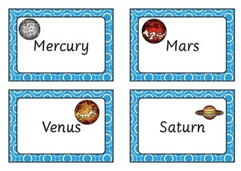 Solar System Word Bank