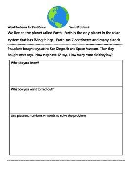 Solar System Word Problems