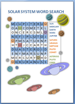 Solar System Word Search