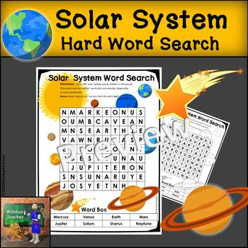 Solar System Word Search *HARD