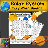 Solar System Word Search   EASY