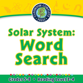 Solar System: Word Search - NOTEBOOK Gr. 5-8