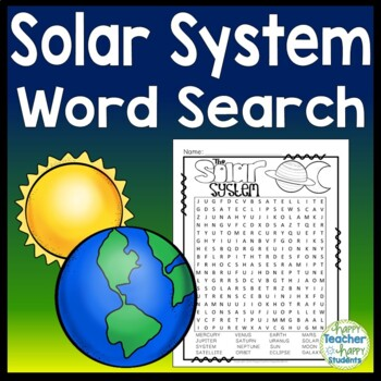 FREE Solar System Word Search - Planets Word Search