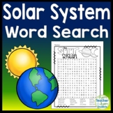 Solar System Word Search - Planets Word Search
