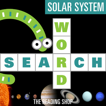 Solar System Word Search - Primary Grades - Wordsearch Puzzle