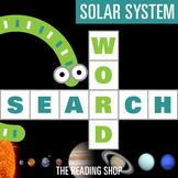 Solar System Word Search Puzzle - 3 Levels Differentiated