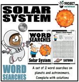 Solar System Word Searches