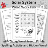 Solar System Word Work Fun