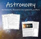 Solar System Worksheets: Reading Passage, Fill in the Blank, Venn Diagram etc.