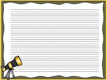 Solar System Writing Paper Freebie
