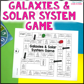 Solar System and Galaxy Board Game