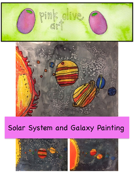 Solar System and Galaxy Painting