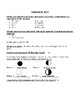 Solar System and Moon Phase Study Guide AND Test
