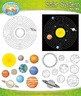 Solar System and Planets Clipart Set — Comes In Color and
