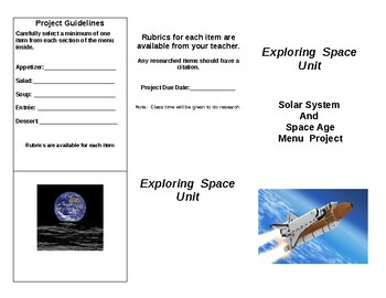 Solar System and Space Age Project