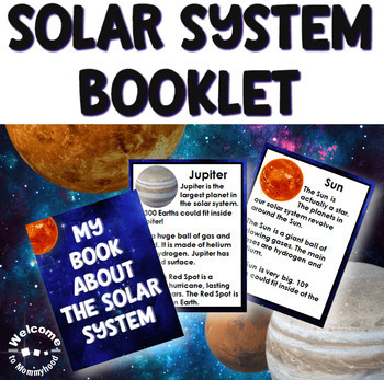 Solar System and Space Bundle with Close Up Cards, Planets Book, & 3 Part Cards