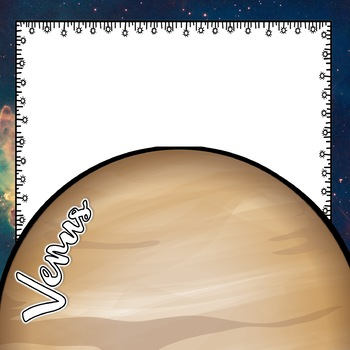 Solar System and Space Classroom Decor Center Signs EDITABLE