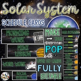 Solar System and Space Classroom Schedule Cards EDITABLE