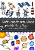 Solar System and Space Notebooking Page Sample