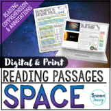 Solar System and Space Reading Comprehension Passages Digi