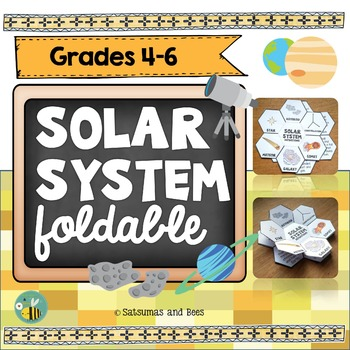 Solar System vocabulary-Interactive Science Notebook foldable