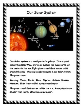 Solar System for Second