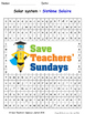 Solar System in French Worksheets, Games, Activities and F