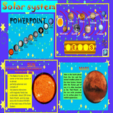 Solar System Space Sun Mercury Venus Earth Mars PowerPoint Lesson