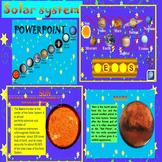 Solar System Space Sun Mercury Venus Earth Mars distance learning