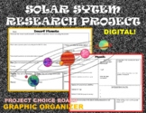 Solar System (planet, stars, asteroids, dwarf,comets) Research Graphic Organizer