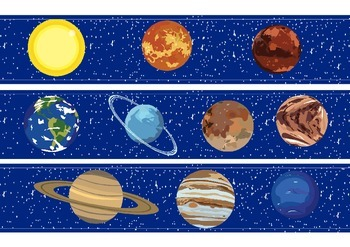 Planets Classroom Bulletin Board Display Border