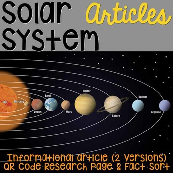 solar system informational article qr code research page fact sort