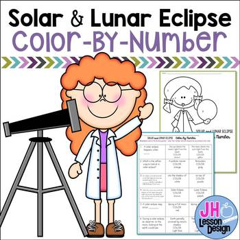 Solar Eclipse and Lunar Eclipse Color-By-Number