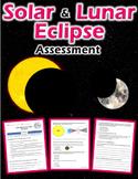 Solar and Lunar Eclipse Quiz (plus review sheet)