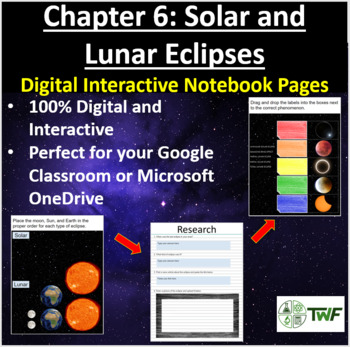 Solar and Lunar Eclipses - Digital Interactive Notebook Pages