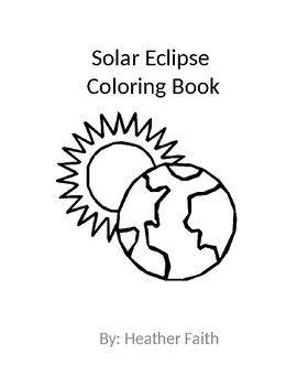 Solar eclipse Coloring Book