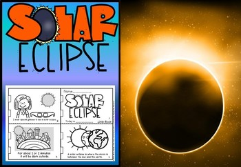 Solar eclipse 2017 and planets foldable booklets.