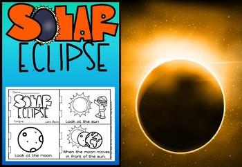 Solar eclipse little book for kindergarten and grade 1