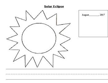 Solar eclipse math sheet