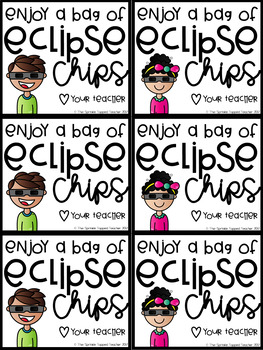 Eclipse Chips Snack Gift Tag for the Solar or Lunar Eclipse