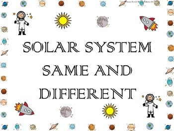 Solar System Math ~ Same and Different Concepts