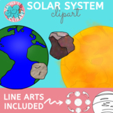 Solar system and outer space clipart {Science clip art}
